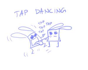 tapdancing