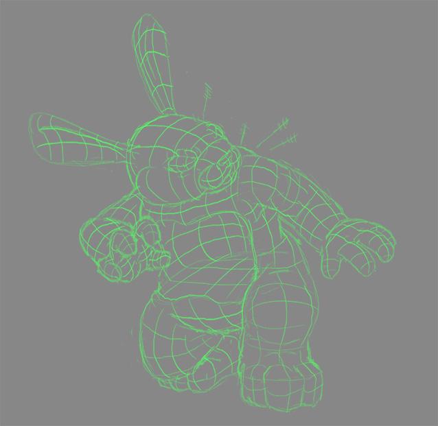 rabbittreewireframe